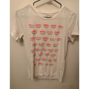JCREW SIZE M WATERMELON COLLECTOR TEE